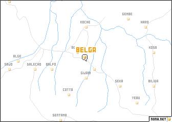 map of Belga
