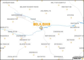 map of Belilovka