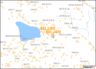 map of Beljani