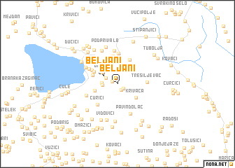 map of Beljani