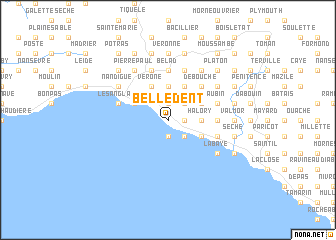 map of Belle Dent