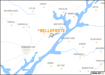 map of Bellefonte