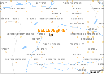 map of Bellevesvre