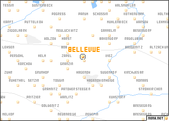 map of Bellevue