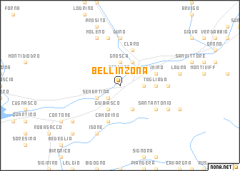 Bellinzona Switzerland map nonanet