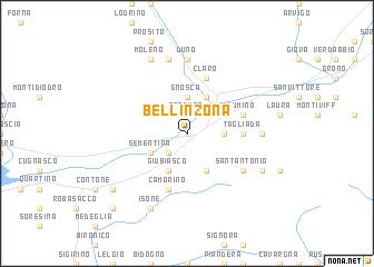 Bellinzona Switzerland map nonanet