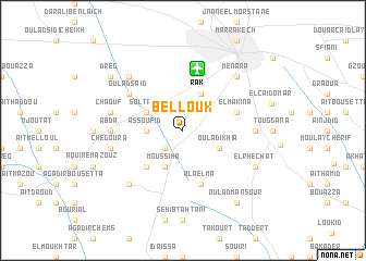 map of Bellouk