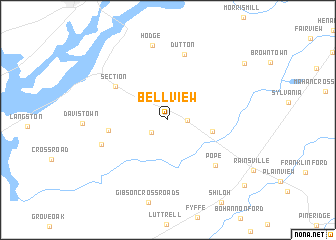map of Bellview
