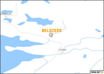 map of Belozero