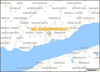 map of Belsőábrahámhegy
