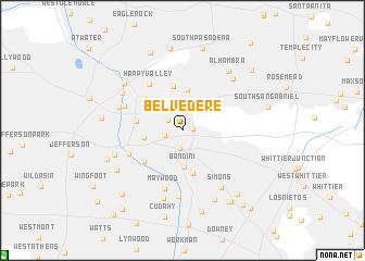 map of Belvedere