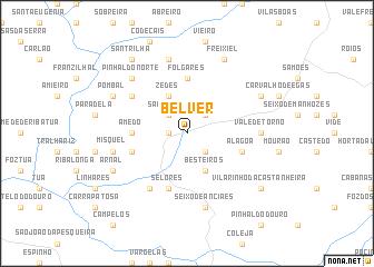 map of Belver
