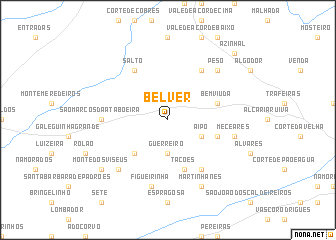 map of Belver