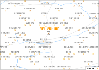 map of Belykhino
