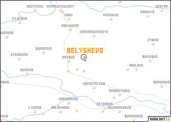 map of Belyshëvo