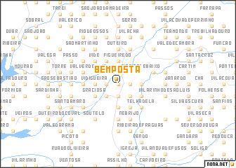 map of Bemposta