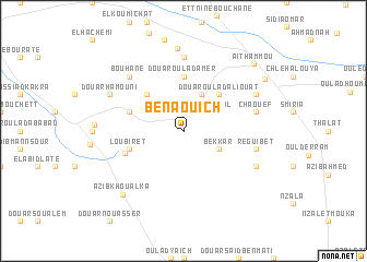 map of Ben Aouich