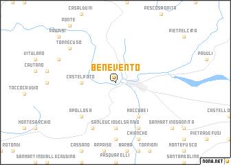 Benevento Italy map nonanet