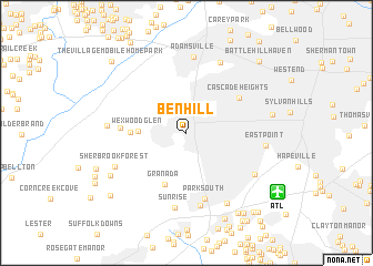 map of Ben Hill