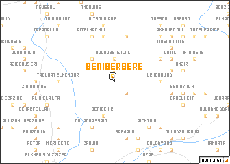 map of Beni Berbere