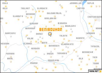 map of Beni Bouhar