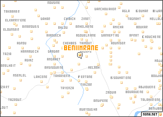 map of Beni Imrane
