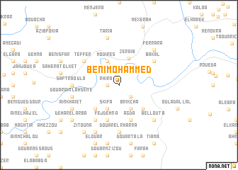 map of Beni Mohammed