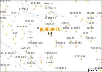 map of Beni Ouatli