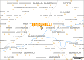 map of Beni Ouhelli