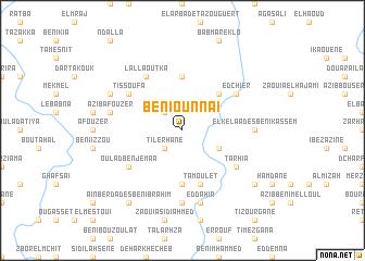 map of Beni Ounnaï