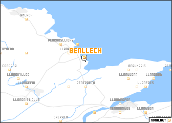 map of Benllech
