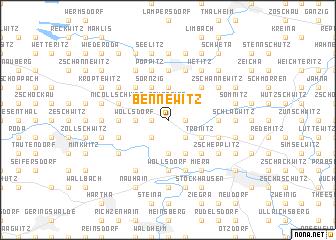 map of Bennewitz