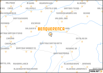 map of Benquerença