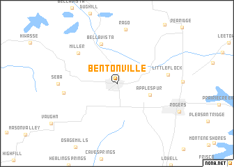 Bentonville United States USA Map Nonanet - Map of us arkansas