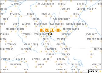 map of Berdechów
