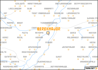 map of Berekmajor
