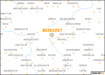map of Berekrét