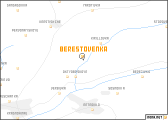 map of Berestoven'ka