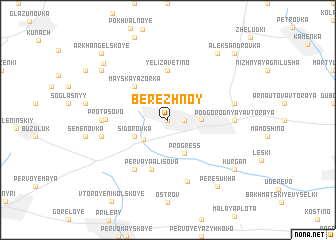 map of Berezhnoy