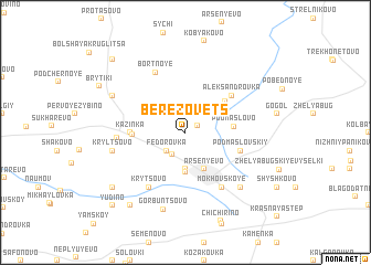 map of Berëzovets