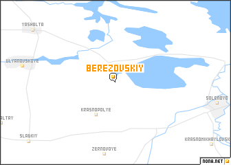 map of Berezovskiy