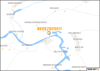 map of Berëzovskiy