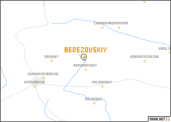 map of Berëzovskiy