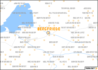 map of Bergfriede