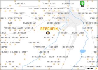 map of Bergheim