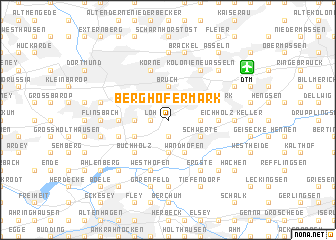 map of Berghofermark