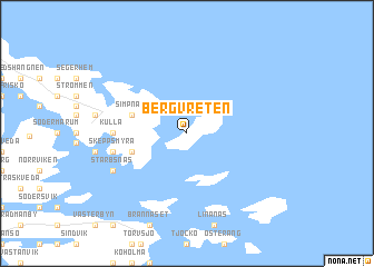 map of Bergvreten