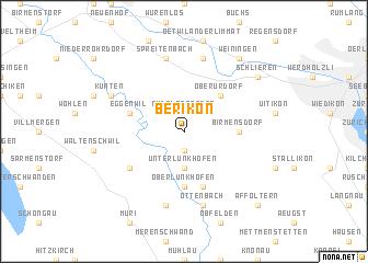 map of Berikon