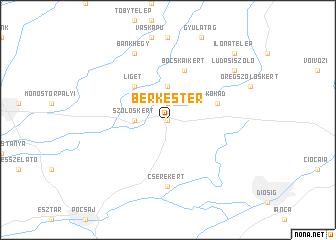 map of Berkestér