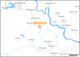 Bermuda (United States - USA) map - nona.net